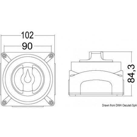 Interrupteur / coupleur batteries Selecta