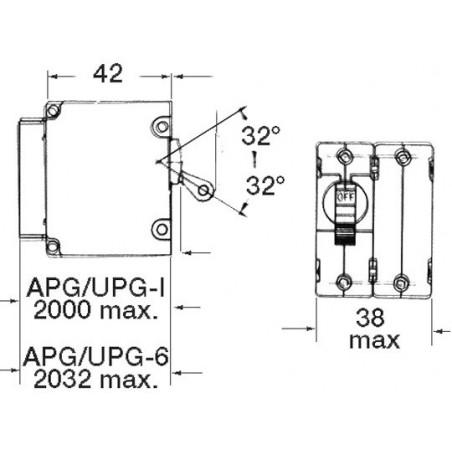 Interrupteur Airpax magneto/hydraulique