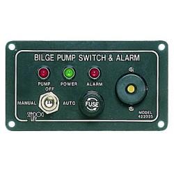 Tableau commande pompe + alarme