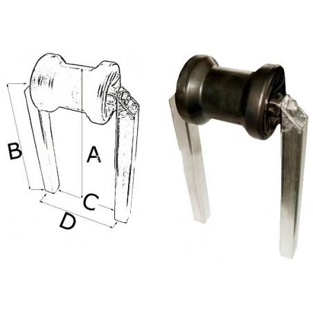 Diabolo central double tube