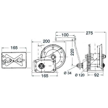 Treuil manuel SPX+ frein
