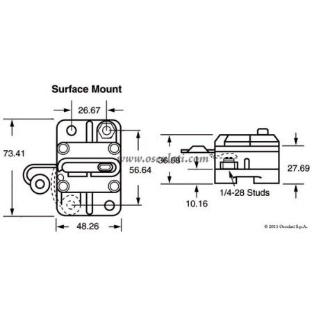 Interrupteur thermique étanche externe