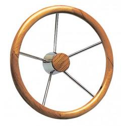 Barre à roue inox + bois