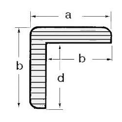 Profil teck en L