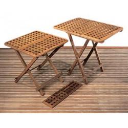 Table teck pliante + rallonge