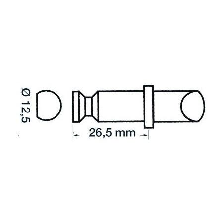 Dame nage plast/laiton 12x35mm
