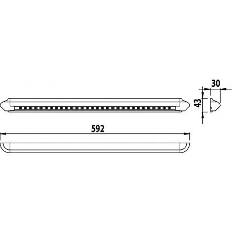 Plafonnier 30 LED HD Supeflux