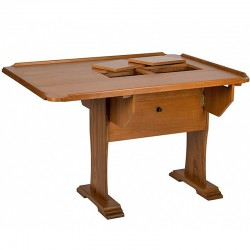 "Table traditionnelle teck ""Commander"""