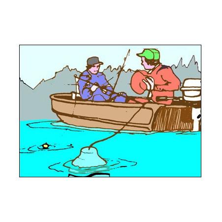 Lampe flottante poissons