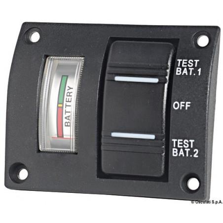 Tableau pour 2 batteries