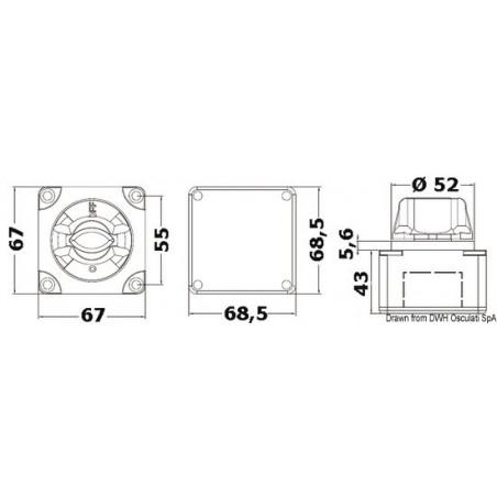 Interrupteur / coupe-batterie mini