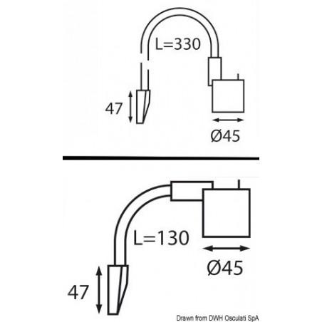 Lampe flexible - tête articulée