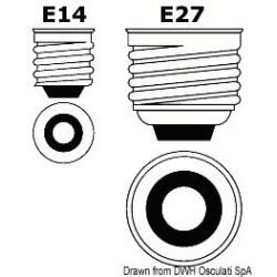 Ampoule led E14/E27 avec protection