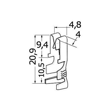 Connecteur en laiton pour câbles