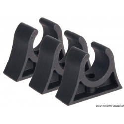 Clip noir x tubes 16/18mm
