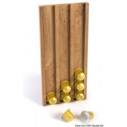 Porte-capsules teck