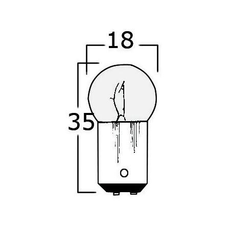 Ampoule bipolaire à baïonnette petite taille.