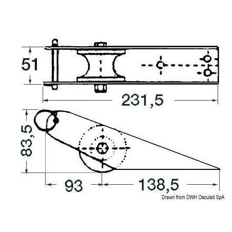 Davier inox 280x55 mm