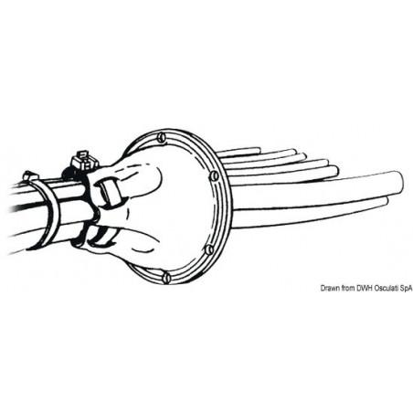 Passe-câble ouvert PVC - illustration