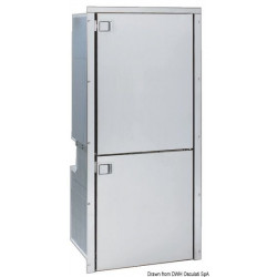 Combiné réfrigérateur/congélateur inox