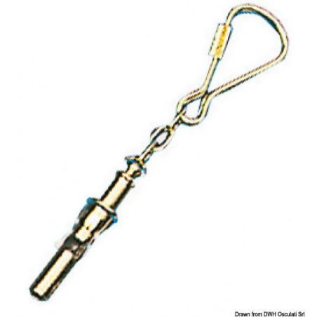 Porte-clés objets marins en laiton