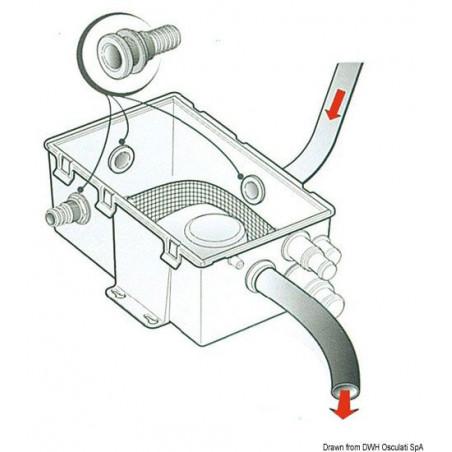 Collecteur eaux usées + pompe