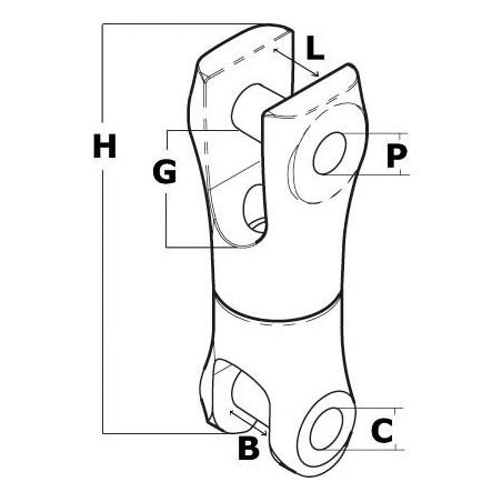 Jonction chaîne/ancre inox