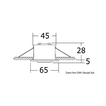 Spot orientable compact Altair - schéma