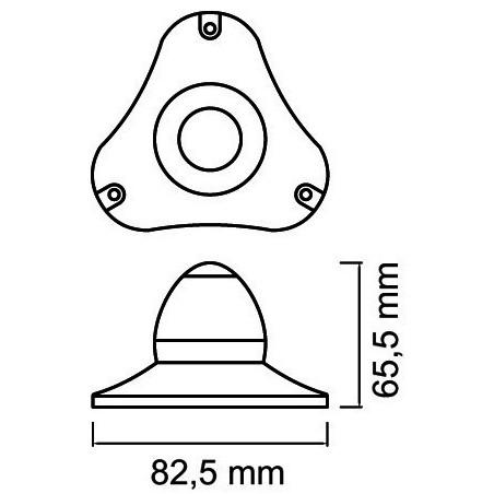 Feu à LED Sphera II. Bateaux jusqu'à 50m