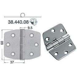 Charnière inox 2 mm 74x60