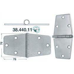 Charnière inox 2 mm 152x76