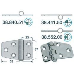 Charnière inox 2 mm 55x37