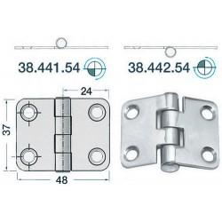 Charnière inox 2 mm 48x37