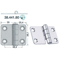 Charnière 2 mm 60,4x38,1