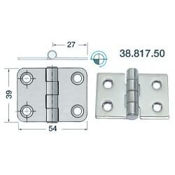 Charnière inox 2 mm 54x39