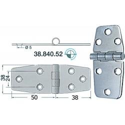Charnière inox 2 mm 84x38