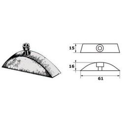 Paire d'anodes pour hélice pliable