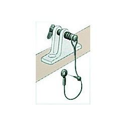 Plaque + goupille + câble pour capotes