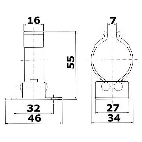 Clip inox pour tubes