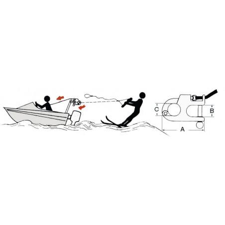 Mousqueton ski nautique