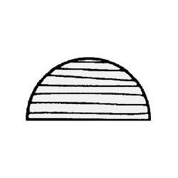Profil teck demi-rond