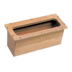 Boîte encastrable teck