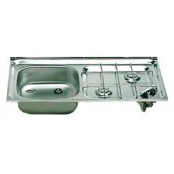 Evier + plan de cuisson intégrés E