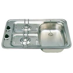 Evier + plan de cuisson intégrés D