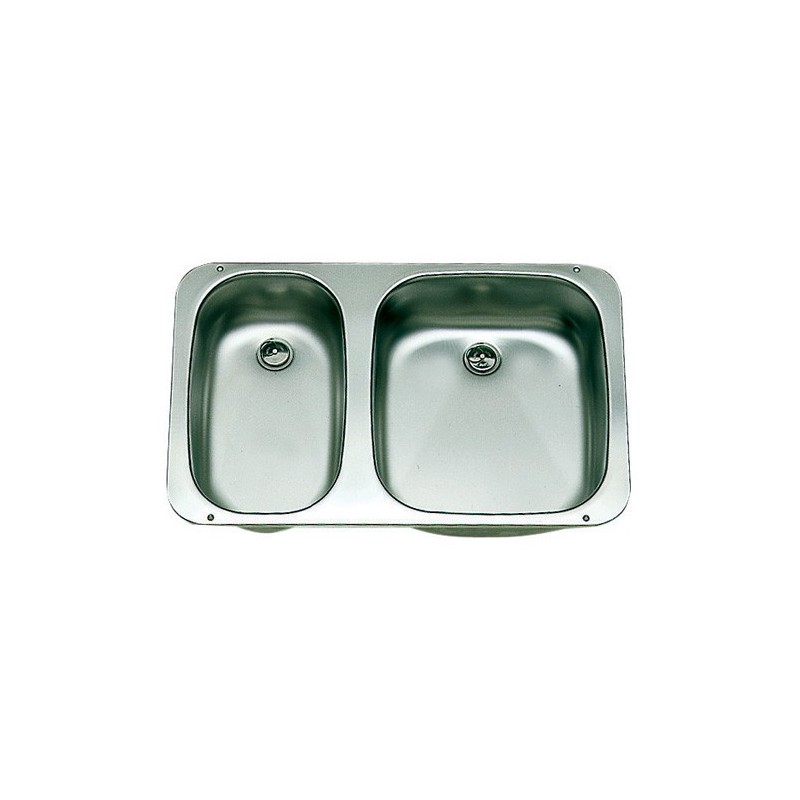 Evier inox double eviers et accessoires for Evier double inox