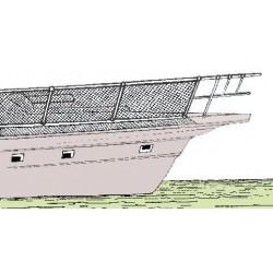 Filet de sécurité en nylon pour balcon ou porte-objets