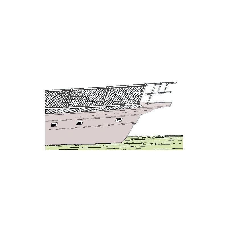 filet de s curit en nylon pour balcon ou porte objets prot ge fili res. Black Bedroom Furniture Sets. Home Design Ideas