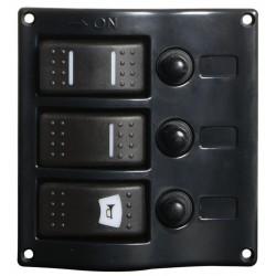 Tableau électrique à interrupteurs carénés