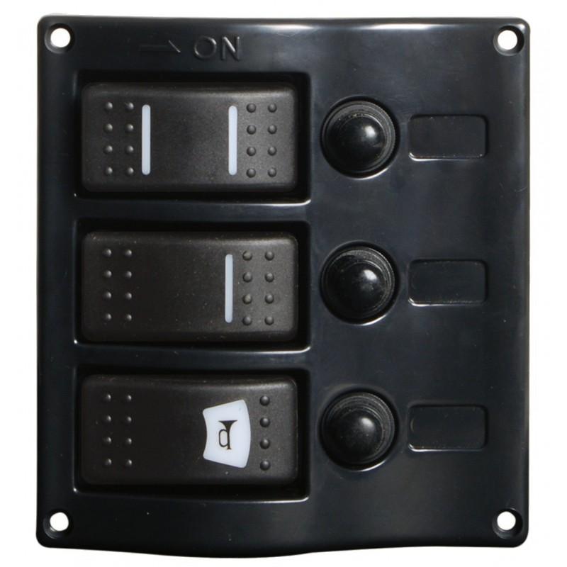 Tableau électrique avec interrupteurs carénés