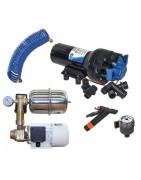 autoclaves et autres pompes à eau pour les installations hydrauliques de bord